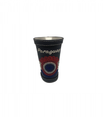 Сompany Selecta Calabas cup for drinking mate, aluminum, in the skin, black 100 ml price