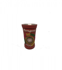 Сompany Selecta Calabas cup for drinking mate, aluminum, in the skin, red 100 ml price